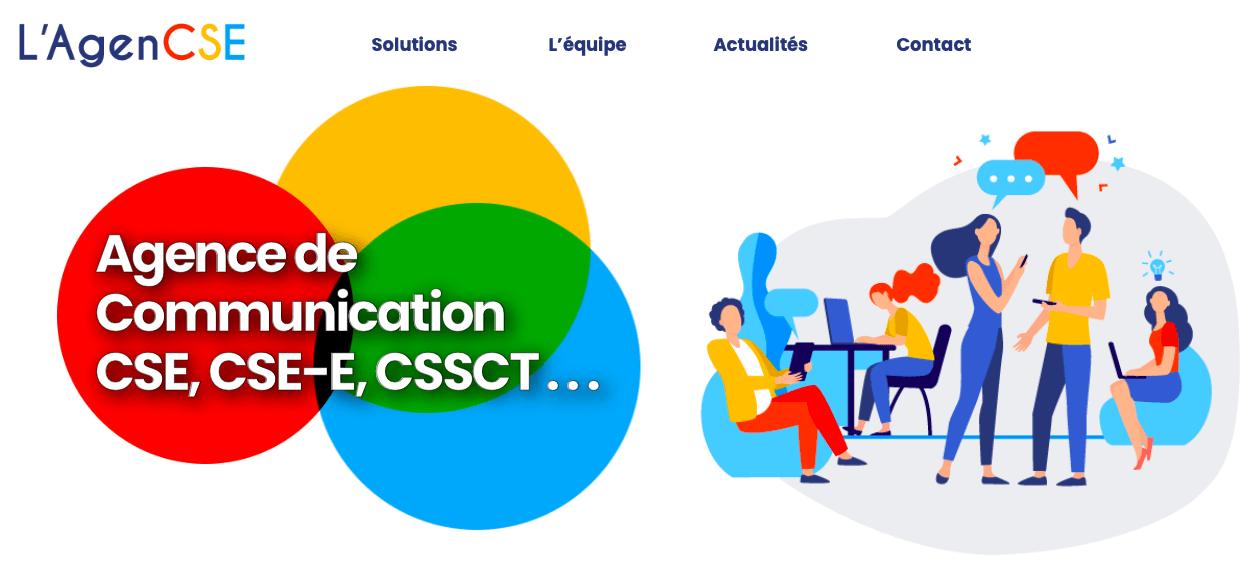 Page d'accueil de L'AgenCSE